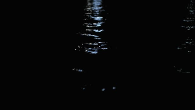 close angle of water reflections in ocean, pond, river or harbor. waves reflect light from distance. - pond stock videos & royalty-free footage