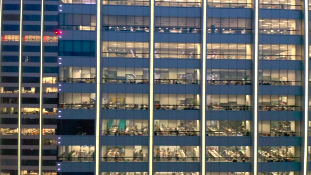 office building aerial view - office block exterior stock-videos und b-roll-filmmaterial