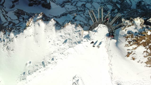 aerial view of 5 fingers in dachstein mountains - dachstein mountains stock videos and b-roll footage