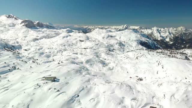 snowy mountain peaks at dachstein glacier - dachstein mountains stock videos and b-roll footage