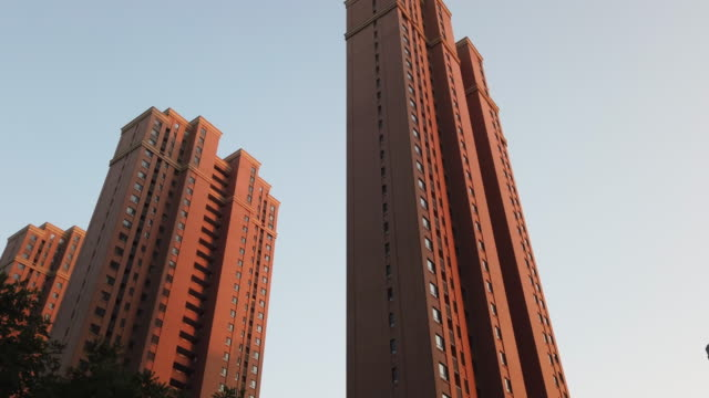 low angle view of residential building - liyao xie stock videos & royalty-free footage
