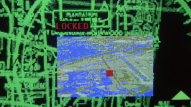 close angle hand held zoom in and out of screen with radar map and red letters flashing. most likely on control panel. neg cut. insert. - inserting stock videos & royalty-free footage