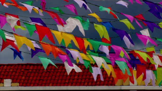 vídeos y material grabado en eventos de stock de brazil - festa junina - decorative flags - bandera