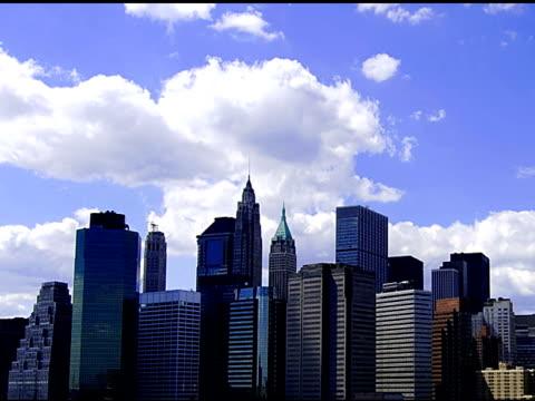ニューヨークシティーのスカイライン-sd - 尖塔点の映像素材/bロール