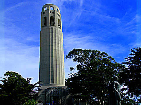 coit tower 1 - pal - coit tower stock videos & royalty-free footage