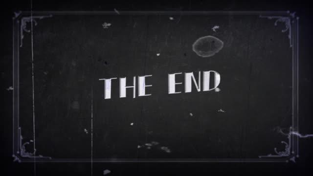 オールドフィルム・ザ・エンド 4k - 終わり点の映像素材/bロール