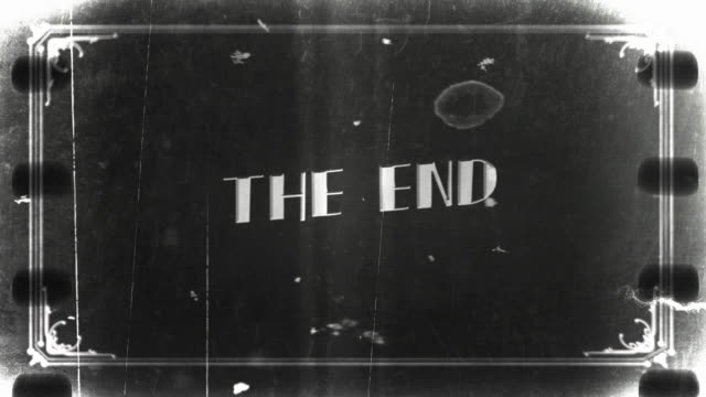 old film the end 4k - film leader stock videos & royalty-free footage