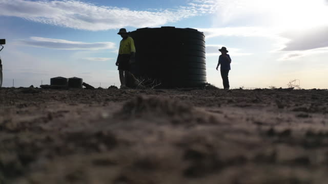 vídeos de stock, filmes e b-roll de johnnie mckeown drives his truck as he inspects water troughs in a droughtaffected paddock on the family property of 'long view' on october 5 located... - 2010 2019