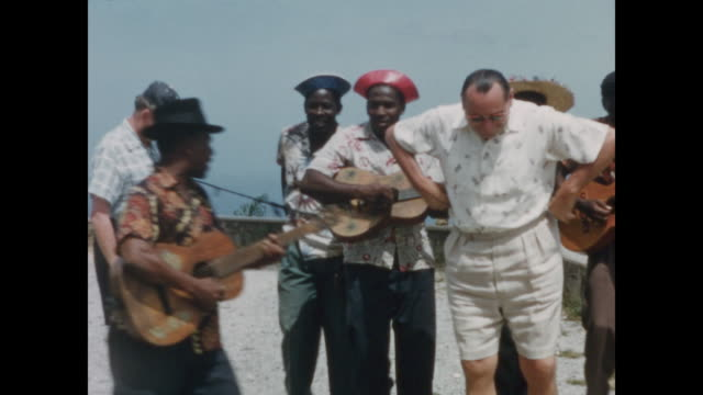 1957 cruise ship passengers arrive in haiti - home movie - performer stock videos & royalty-free footage