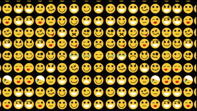 emoticons multiplying grid - repetition stock videos & royalty-free footage