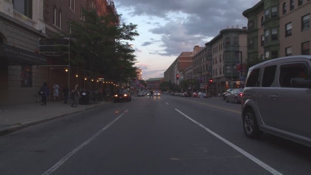 dusk process plate, straight back, boston - driving plate stock videos & royalty-free footage