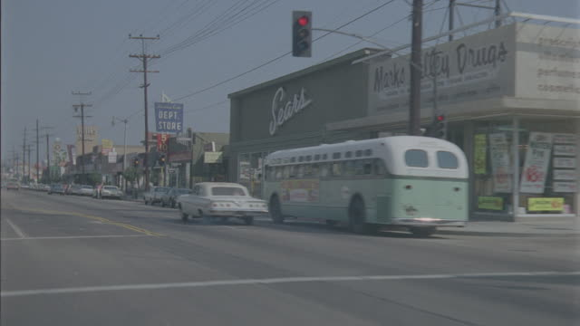 auto bg: sherman oaks: day: 3/4 back right----- traveling west on ventura blvd. starting at van nuys blvd. and ending at sepulveda. (stock_footage_6_24_16_reel_7_007.mov) - driving plate stock videos & royalty-free footage