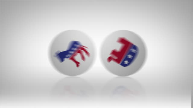 elections republican and democrats icons - democratic party usa stock videos & royalty-free footage