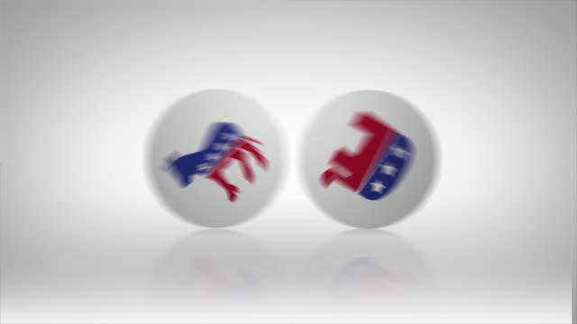 選挙共和党と民主党のアイコン - 米民主党点の映像素材/bロール