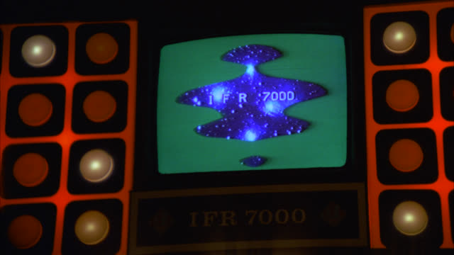 tv monitor as computer screen displaying 'case numbers' monitor surrounded by strange red lights / neg cut to ms of same international computer panel     many lights also names of countries [shots 1231-02 to 1231-06 and 1232-01 and 1236-14 match] - 1978 stock videos & royalty-free footage