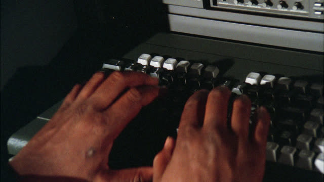 insert cu on keyboard computer pc in front of monitor man's hands fingers enter type leave typing / neg cut multiple takes - inserting stock videos & royalty-free footage