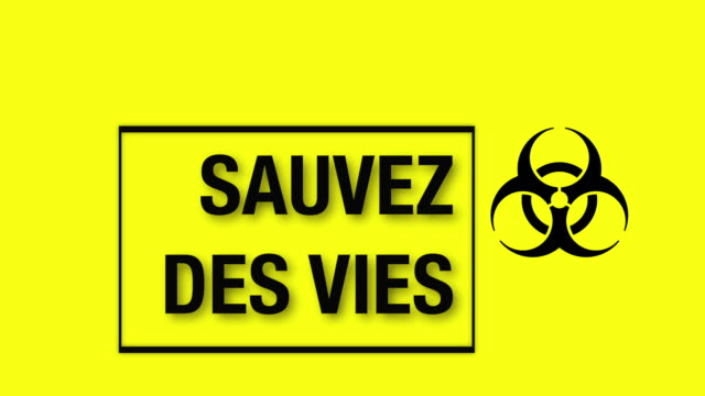 covid-19 save lives stay at home - french language stock videos & royalty-free footage