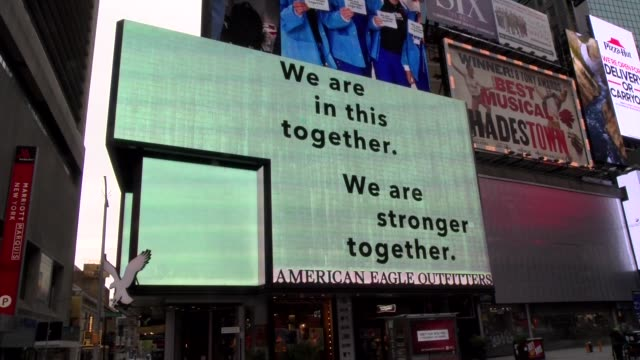 """vidéos et rushes de """"we are all in this together"""" billboard during covid-19 crisis - salmini"""