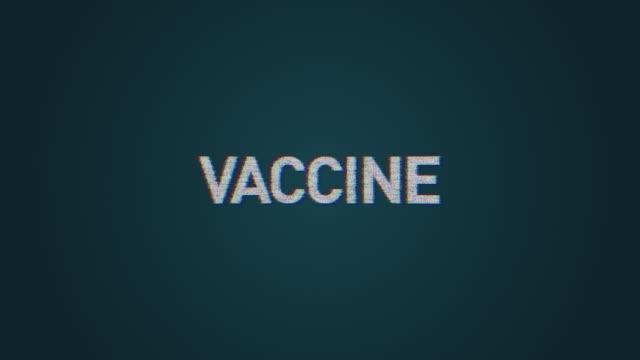 コロナウイルスワードクラウド - ワクチン - rna点の映像素材/bロール