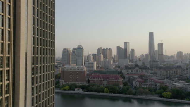 cityscape over the river - liyao xie stock videos & royalty-free footage