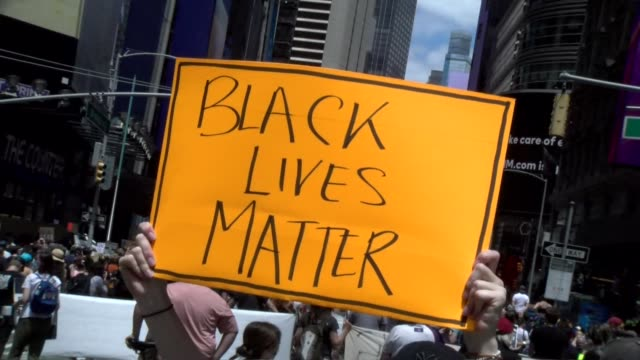 black lives matter sign - salmini stock videos & royalty-free footage