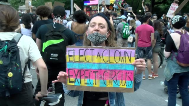 sign - elect a clown, expect a circus - salmini stock videos & royalty-free footage