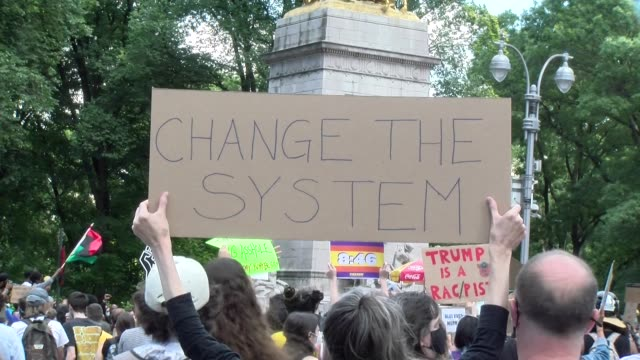 sign change the system - salmini stock videos & royalty-free footage