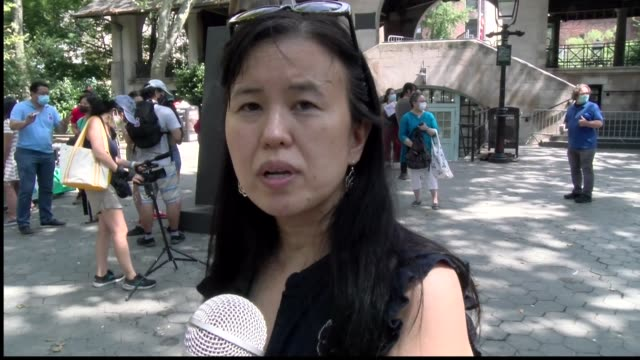 barbara yau cofounder concerned asianamerican citizens of nyc - salmini stock videos & royalty-free footage