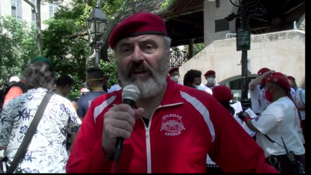 curtis sliwa on camera mission of the guardian angels - salmini stock videos & royalty-free footage