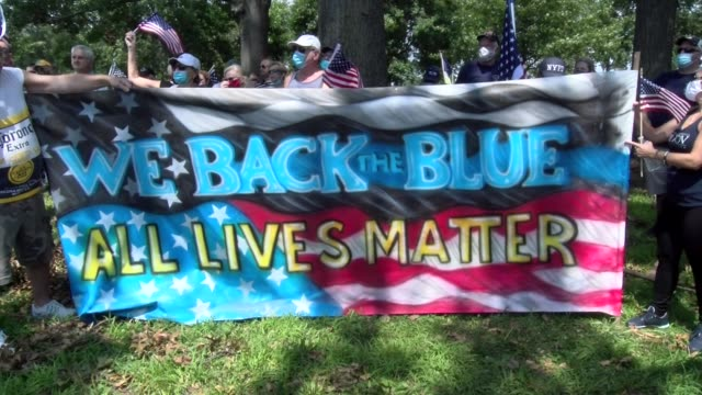 we back blue all lives matter banner - salmini stock videos & royalty-free footage