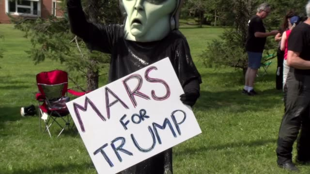 mars for trump sign - salmini stock videos & royalty-free footage