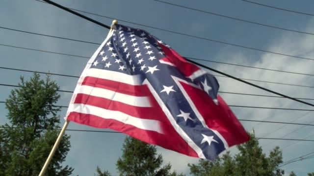 altered american flag waves - salmini stock-videos und b-roll-filmmaterial
