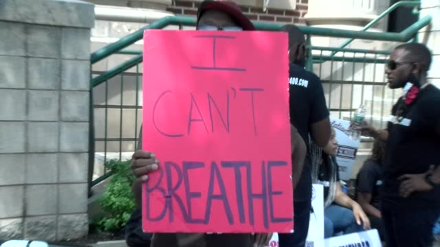 i can't breathe sign - salmini stock videos & royalty-free footage