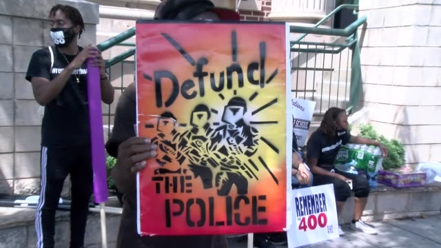 defund the police sign - salmini stock videos & royalty-free footage