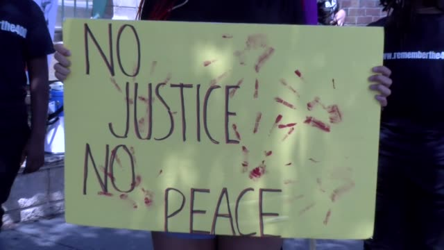 #remember the 400 rally in englewood nj peaceful protest and march - salmini stock videos & royalty-free footage
