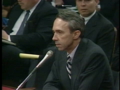 confirmation hearings begin for supreme court justice nominee david souter - nominee stock videos & royalty-free footage