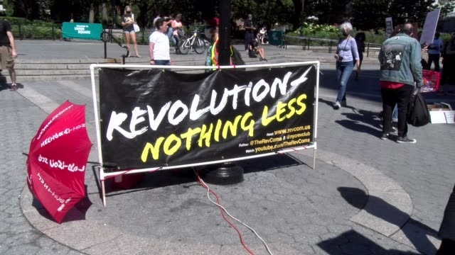 """revolution, nothing less"" banner - salmini stock videos & royalty-free footage"
