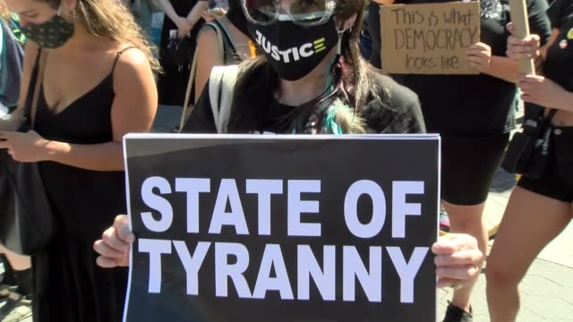 state of tyranny sign - salmini stock videos & royalty-free footage