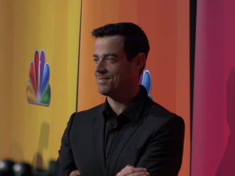 carson daly on red carpet at the nbc upfront primetime preview - carson daly stock videos & royalty-free footage