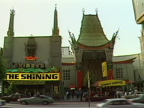 hollywood section of los angeles t chinese theater; - tcl chinese theatre stock videos & royalty-free footage