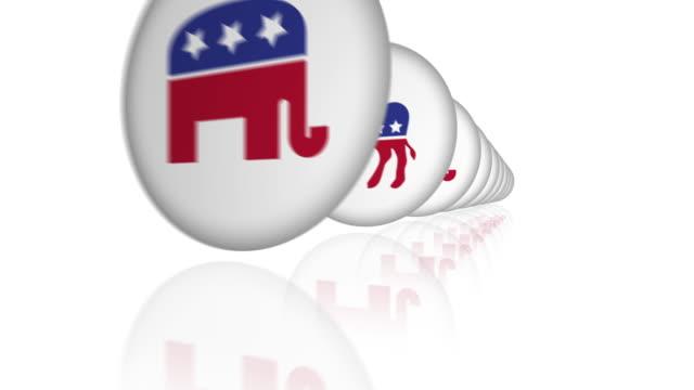 投票キャンペーンボタンの行。 - キャンペーンバッジ点の映像素材/bロール