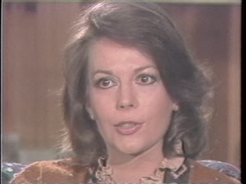 interview clip with natalie woods that had recently occurred before her death woods criticizes tendency to regard one medium as superior acting... - woodland stock videos & royalty-free footage