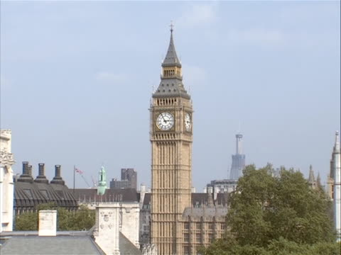beauty shot of big ben in london before the wedding of prince william and kate middleton - big ben点の映像素材/bロール