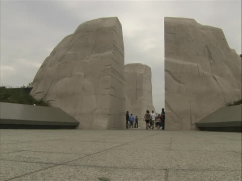 low-angle shot of the 'mountain of despair' from the martin luther king jr. memorial in washington dc. - engraved image stock videos & royalty-free footage