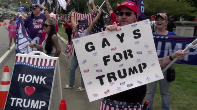gays for trump sign - salmini stock videos & royalty-free footage