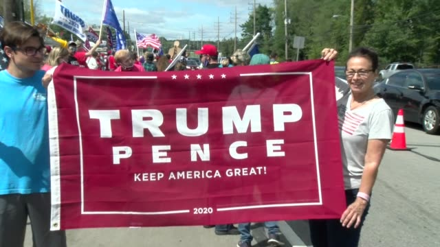 trump pence banner - salmini stock videos & royalty-free footage