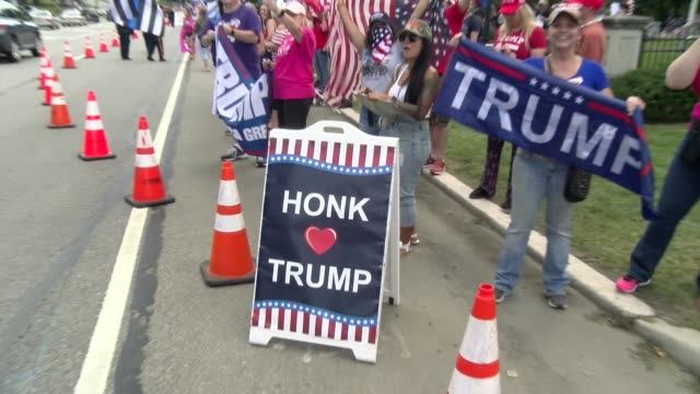 honk for trump sign - salmini stock videos & royalty-free footage