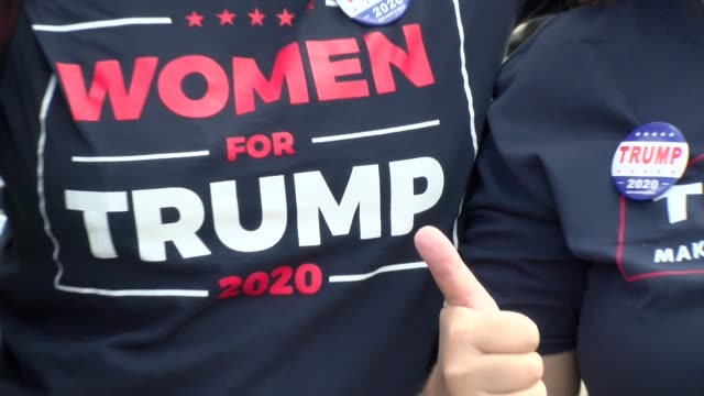 women for trump tee shirts - salmini stock videos & royalty-free footage