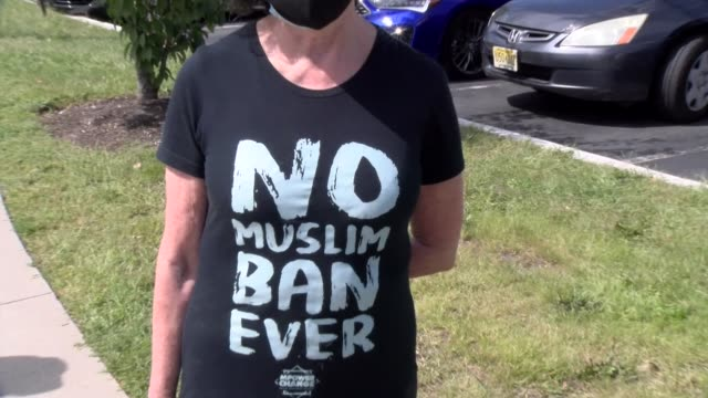 no muslim ban ever tee shirt - salmini stock videos & royalty-free footage
