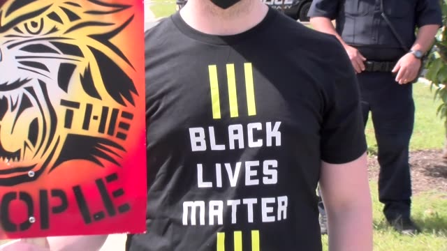 black lives matter tee shirt - salmini stock videos & royalty-free footage